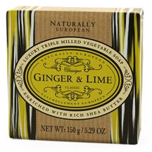 Ginger og lime triple milled sæbebar fra Naturally european