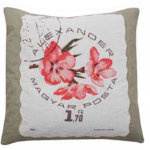 Vintage - Flower stamp pude