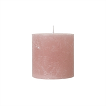 Rustikke paraffin lys i dusty rose fra Cozy living